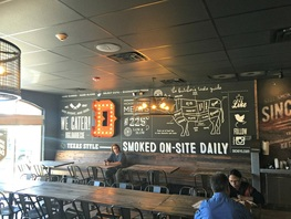 Custom Wall Mural at Dickey's BBQ